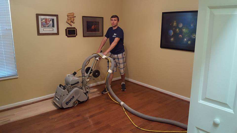 Dustless hardwood floor sanding for Hardwood floors knoxville
